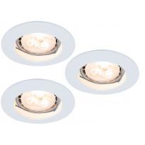 LED-alasvalosetti Paulmann Premium Line 3x4W Ø 79 mm 3 kpl valkoinen