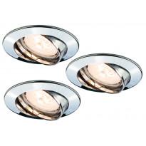 LED-alasvalosetti Paulmann Premium Line 3x4W Ø 83 mm 3 kpl kromi käännettävä
