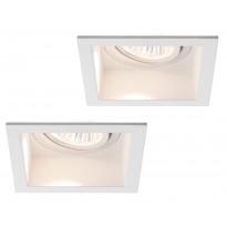 Alasvalosarja Premium Daz LED 2x9,5W, kantikas, 153mm, valkoinen