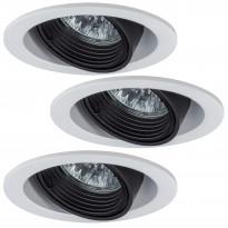 Alasvalosarja Premium Daz 3x35W, pyöreä, 51mm, valkoinen/musta