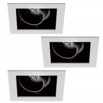 Alasvalosarja Premium Daz 3x35W, kantikas, 51mm, valkoinen/musta