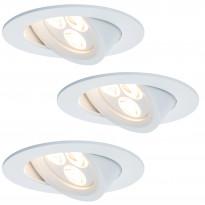 Alasvalosarja Premium Snowy LED 3x7,5W, 95mm valkoinen