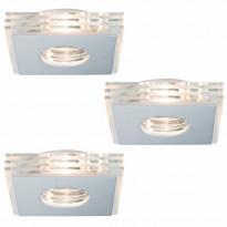 Alasvalosarja Premium Layer LED 3x3,5W, 100x100mm, harjattu alumiini