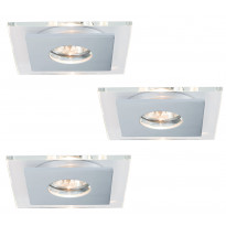 Alasvalosarja Premium single Layer 3x40W, 120x120mm, harjattu alumiini