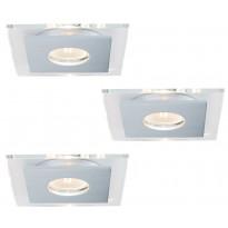 Alasvalosarja Premium single Layer LED 3x3,5W, 120x120mm, harjattu alumiini