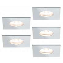 Kalustevalaisinsarja Mini Micro Line LED 5x1W, 35x35mm, kantikas, kromi
