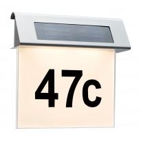 Numerovalaisin aurinkokennolla Specia LED 1x0,2W, rst/valkoinen