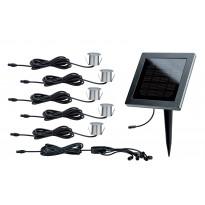 Aurinkokennomodulisarja Special MiniSol lattiavalo 5x0,2W, rst/musta