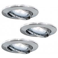 Alasvalosetti Paulmann LED-tähtirenkaalla 3 kpl GU10 IP23 Ø 83 mm harjattu teräs suunnattava 93801