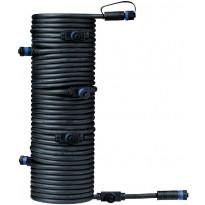 Liitosjohto Paulmann Plug & Shine, 7 valaisimelle, IP68, 15m
