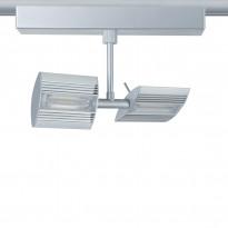 LED-kiskovalaisin Paulmann URail Linear 230x125x65 mm 2-osainen mattakromi