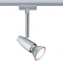 LED-kiskovalaisin Paulmann URail BarelliLED Ø 51x165 mm mattakromi/kromi