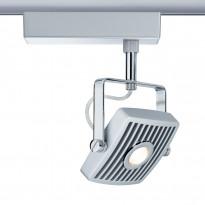 LED-kiskovalaisin Paulmann URail Loupe spotti 180x119x198 mm mattakromi/kromi suunnattava