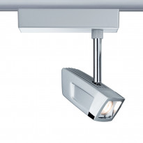 LED-kiskovalaisin Paulmann URail Scene spotti 200x58x158 mm mattakromi/kromi