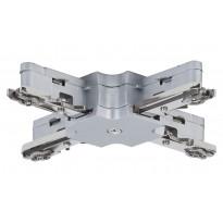 Liitin Paulmann X-haara URail X-Connector 36x36 mm mattakromi