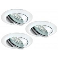LED-alasvalosetti Paulmann Premium Line 3x1W Ø 83 mm 3 kpl valkoinen