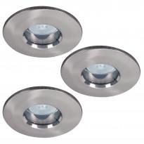 Alasvalosarja Premium LED 3x4W, 51mm, harjattu teräs