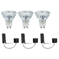 Alasvalojen perussetti Paulmann 2Easy Basic Set LED 3 kpl 3x1 W GU10 6500K 3x35lm