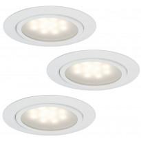 Kalustevalaisinsarja Micro Line LED 3x1W, 65mm, valkoinen
