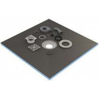 Märkätilalevy lattiaan kaivolla Tycroc STC100, 1000x1000x20mm