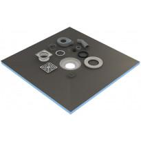 Märkätilalevy lattiaan kaivolla Tycroc STC90, 900x900x20mm
