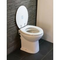 WC-istuin Tecma Prestige 45, silppuripumpulla, valkoinen