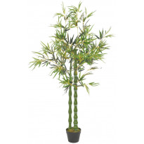 Tekokasvi bambu ruukulla vihreä 160 cm