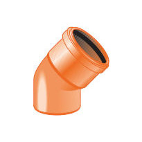 Maaviemärin kulmayhde PVC 250x45°