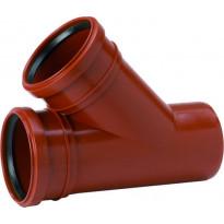 Maaviemärin haarayhde PVC 200/200x45°