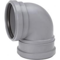 Viemärin WC-muhvikulma 110x88,5, harmaa