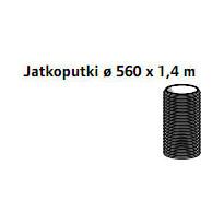 Jatkoputki Ø 560 x 1,4 m maapuhdistamo