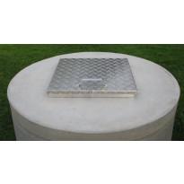Kaivonkannen alumiininen lukittava huoltoluukku, 52x52cm