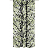 Sivuverho Vallila Pihapuut, 140x250cm, vihreä