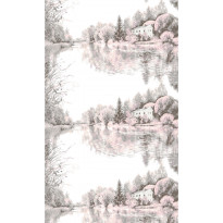 Sivuverho Vallila Jokilaakso, 140x250cm, vaaleanpunainen