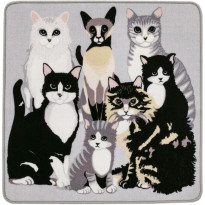 Matto Vallila Kitties, 80x80cm, greysand