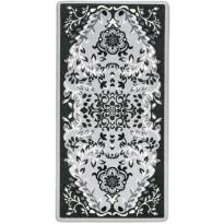 Matto Vallila Esirippu print, 80x160cm, harmaa/musta