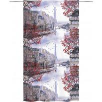 Sivuverho Vallila Pariisi, 140x250cm, punainen