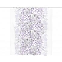 Suihkuverho Vallila Alina, 200x180cm, violetti