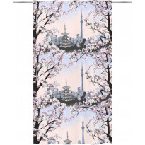 Sivuverho Vallila Tokio, 140x250cm, pinkki