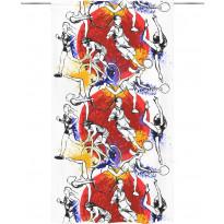 Sivuverho Vallila Liike, 140x250cm, punainen