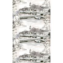 Sivuverho Vallila Naantali 103112-6, 140x250cm, harmaa