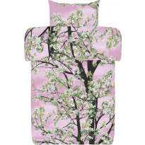 Pussilakanasetti Vallila Omenapuu, 150x210cm, vaaleanpunainen
