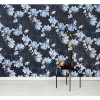 Kuitutapetti Vallila Klassikot Vol 2 5365-1 Magnolia, 0.53x11.2m, tummansininen
