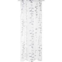 Sivuverho Vallila Astrid Raw, 140x250cm, valkoinen/harmaa
