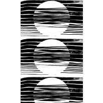 Sivuverho Vallila Astro Raw, 140x250cm, musta/valkoinen