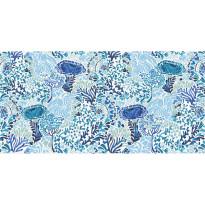 Kylpypyyhe Vallila Napolinlahti, 70x140cm, sininen/valkoinen