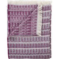 Torkkupeitto Vallila Taiga, 140x190cm, violetti/harmaa/valkoinen