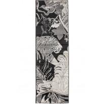 Matto Vallila Seikkailija, 68x220cm, mustavalkoinen