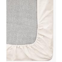 Muotoiltu aluslakana Vallila Pilvi, 90x200+25cm, beige