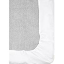 Muotoiltu aluslakana Vallila Pilvi, 160x200+25cm, valkoinen